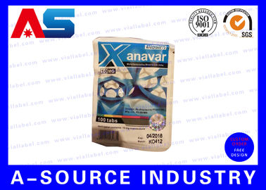 Anavar 60 Tablets Oral Steroids Custom Printed Zip Lock Aluminum Plastic Bags Printing With Security Hologram