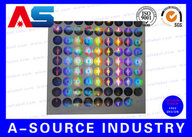 Silver Security Custom Holographic Stickers Label Tamper Proof Seal Custom Design